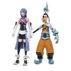Figuras articuladas Aqua y Goofy Kingdom Hearts Diamond Select de 18 cm