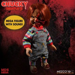 Figura Chuky con Sonido Child's Play 3: Talking Pizza Face Chucky Mezco