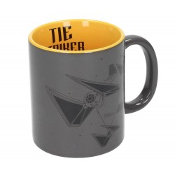 Taza Tie Striker Gris y Amarilla Star Wars Rogue One