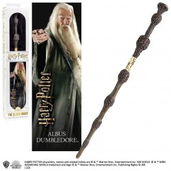 Varita y Marcapáginas 3D Albus Dumbledore Harry Potter 30 cm Noble Collection
