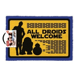 Felpudo All Droids Welcome Star Wars 40x60 cm