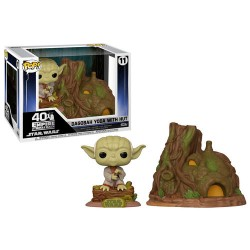 Figura POP Dagobah Yoda with Hut Star Wars