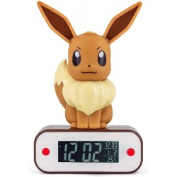 Reloj Despertador Eevee Lámpara Led Pokemon 20 cm