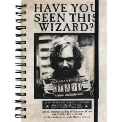 Libreta Espiral A5 Sirius Black Harry Potter