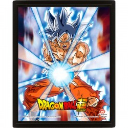 Poster 3D Goku Ultra Instinct Dragon Ball
