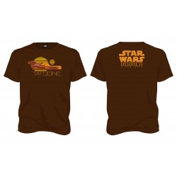 Camiseta Marrón Tatooine Star Wars