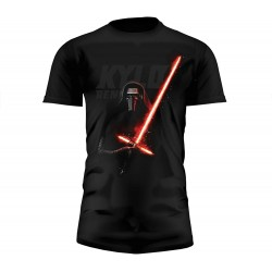 Camiseta Negra Kylo Ren Sable Star Wars