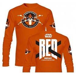 Camiseta Manga Larga Naranja Red Squad Star Wars