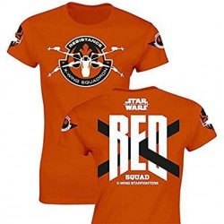 Camiseta Manga Corta Naranja Red Squad Star Wars