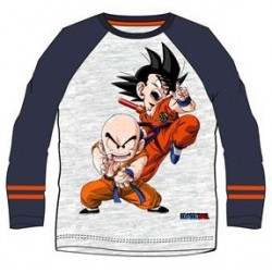 Camiseta Niño Manga Larga Goku y Krilin Dragon Ball