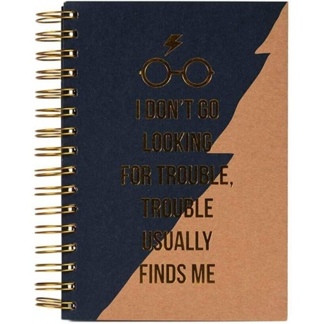 Cuaderno A5 Premium Trouble usually finds me Harry Potter