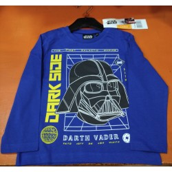 Camiseta Manga Larga Niño Azul Darth Vader Star Wars