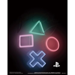 Poster 3D Simbolos Playstation
