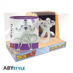 Pack Taza 460 ml + Posavasos Goku vs Frieza Dragon Ball Z