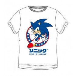 Camiseta Blanca Sonic the Hedgehog