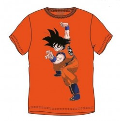 Camiseta Naranja Goku Lucha Dragon Ball