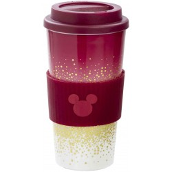 Taza con Tapa Plástico Mickey Mouse 300 ml Disney