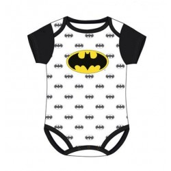 Body Bebé Batman Blanco DC