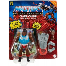 Figura Articulada Clamp Champ + Cómic Master of the Universe Deluxe
