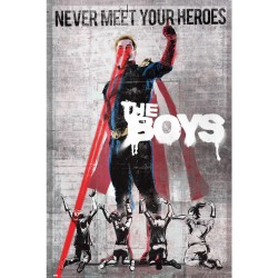 Poster The Boys Never meet yours Heroes 61 x 91,5