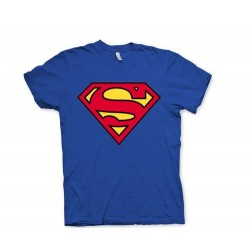 Camiseta Azul Logo Superman