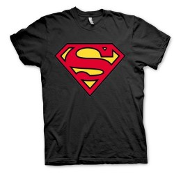 Camiseta Negra Superman Logo