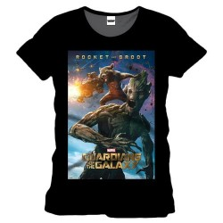 Camiseta Guardianes De La Galaxia Rocket Y Groot